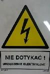 Nie dotykać! Urządzenie elektryczne!
